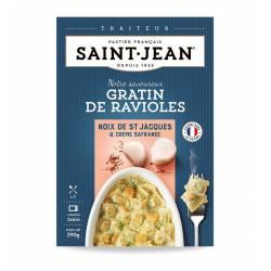 Gratin de ravioles aux noix de Saint Jacques sauce crème safranée 300g