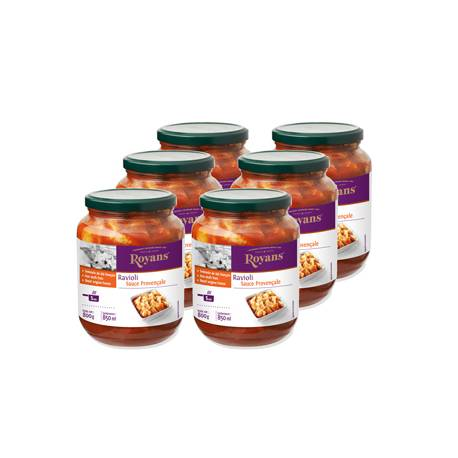 Achat de Bocaux de Ravioli à la viande, sauce provençale (colis de 6 Bocaux)