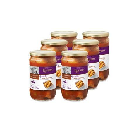 Achat de Bocaux de Quenelles, sauce financière (colis de 6 Bocaux)