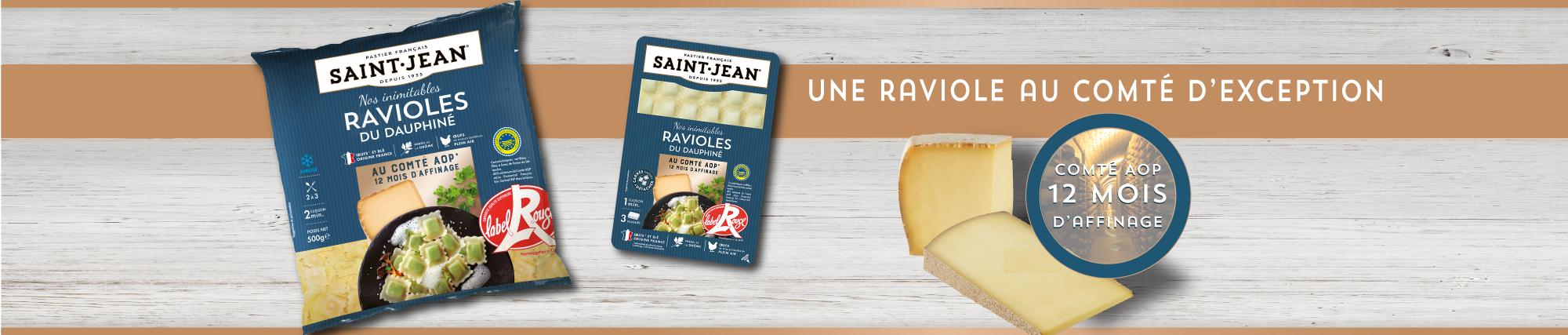 Ravioles du Dauphiné IGP au comté AOP 12 mois d'affinage / Label Rouge